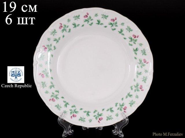 Набор тарелок 19 см Офелия Плетистая роза Отводка золото Старорольский Фарфор (MZ) (6 шт)
