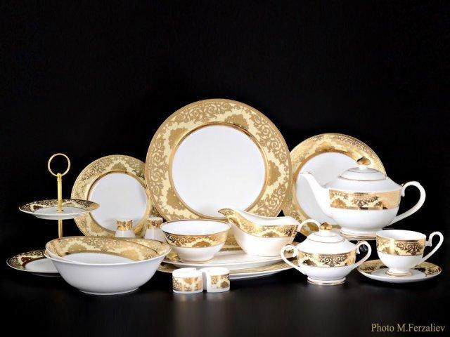 Чайно-столовый сервиз Персия Karosa на 12 персон 81 предмет (2 коробки)
