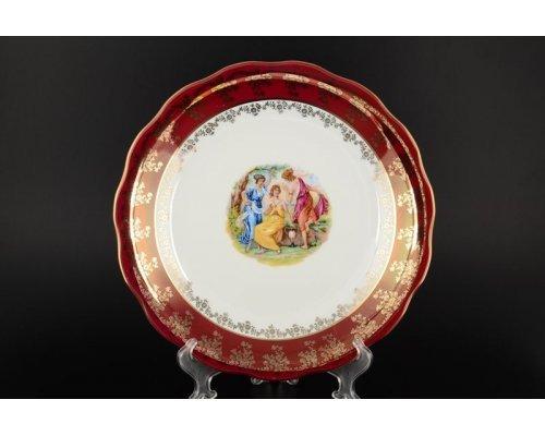 Блюдо круглое 30 см Красная Мадонна Royal Czech Porcelain (6 шт)