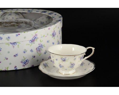 Набор чайных пар Васильки Royal на 6 персон 12 предметов