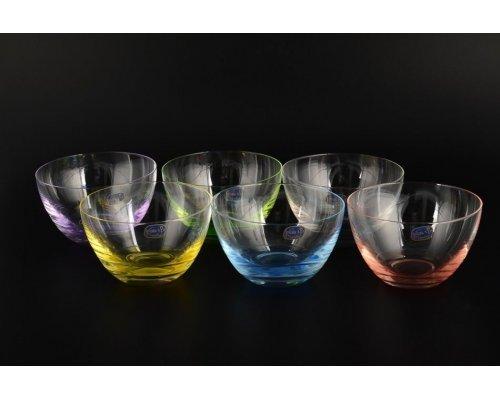 Набор салатников 120 мл Кристалайт (Kristalayt) цветные (6 шт)