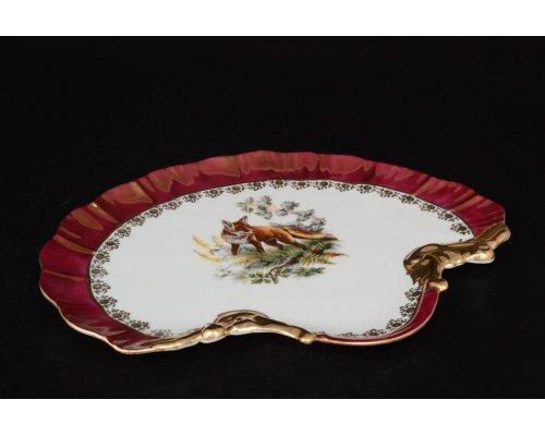 Блюдо ракушка 28 см Охота красная Корона Queens Crown