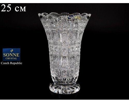 Ваза 25 см Sonne Crystal
