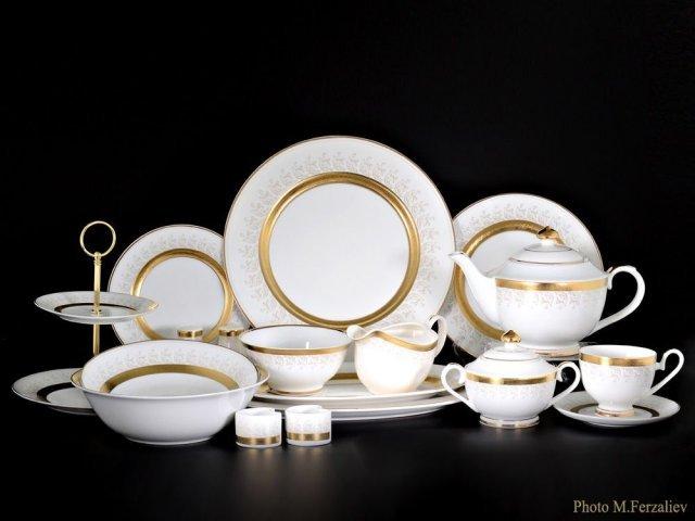 Чайно-столовый сервиз Айла Karosa на 12 персон 81 предмет (2 коробки)