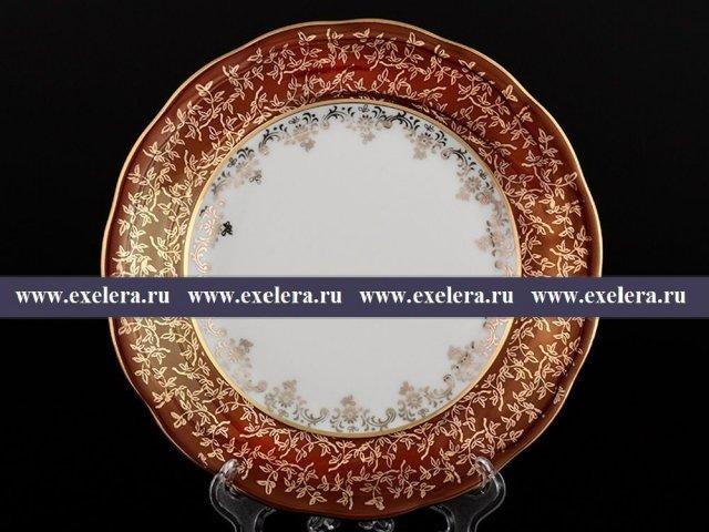 Набор тарелок 19 см из 6 штук Красная паутинка Royal Czech Porcelain