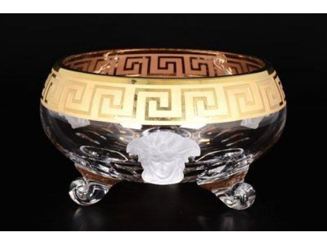 Ваза для фруктов тройножка 20 см Гаргона Богемия Кристал (Bohemia Crystal)