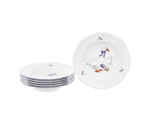 Набор глубоких тарелок 22,5 см Гусики (6 шт)