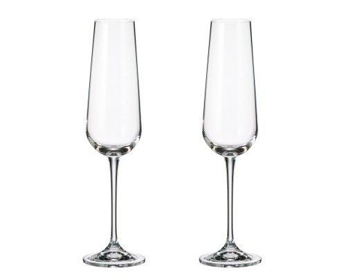 Набор бокалов для шампанского Crystalite Bohemia Ardea/Amudsen 200 мл (2 шт)