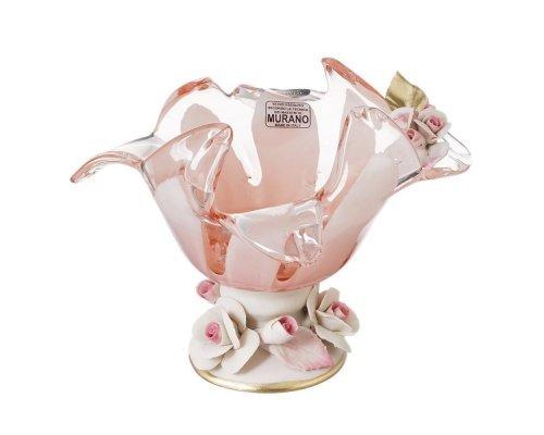 Конфетница White Cristal 18 см розовая