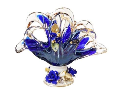 Салфетница White Cristal 20 см синяя