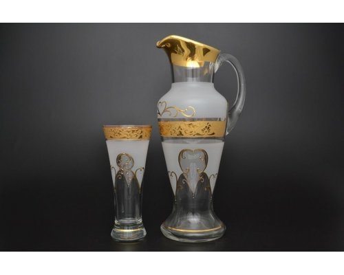 Набор для воды иксовка 7 предметов Версаче R-G фон Богемия Кристал (Bohemia Crystal)