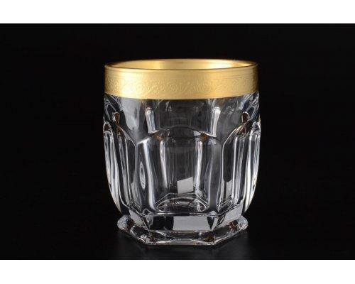 Набор стаканов для виски 250 Богемия Кристал (Bohemia Crystal) Сафари голд