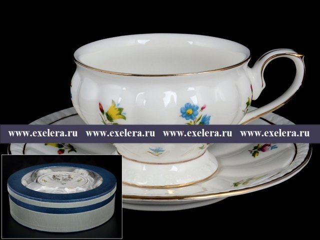 Набор чайных пар на 6 персон 12 предметов Мария Royal