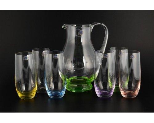 Набор для воды 7 предметов Арлекино Богемия Кристал (Bohemia Crystal)