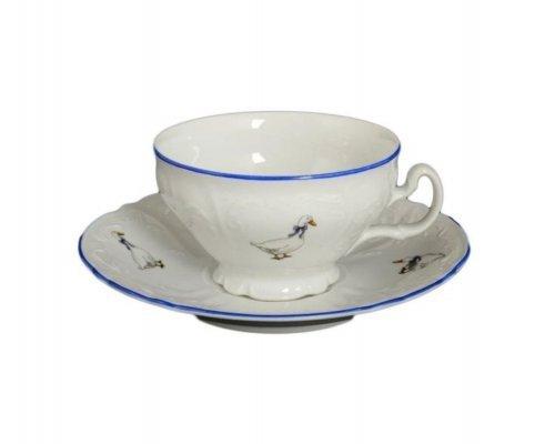 Набор чайных пар Гуси Bernadotte 220 мл (6 пар)