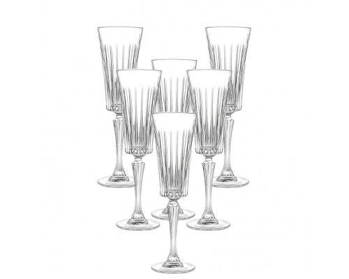 Набор фужеров для шампанского 210 мл Timeless RCR 6 штук