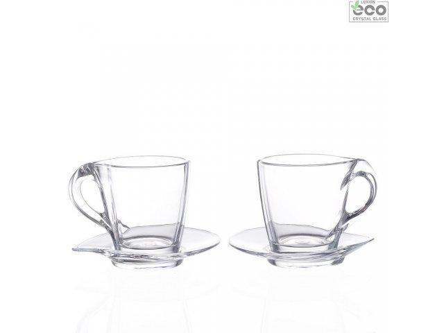 Набор чашек для капучино 240 мл Happy RCR Cristalleria Italiana (2 пары)