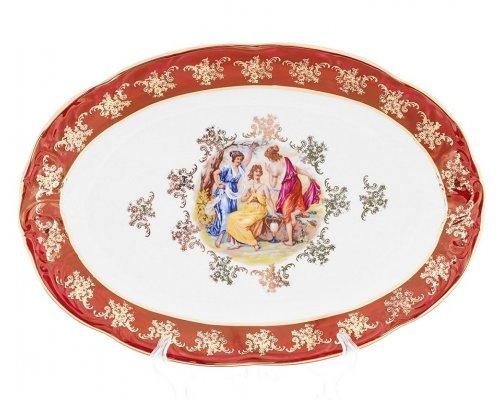 Блюдо овальное Carlsbad Фредерика Мадонна Красная 38см