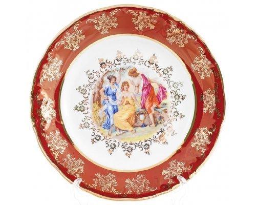 Набор тарелок 19 см Carlsbad Фредерика Мадонна Красная (6 шт)