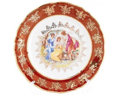 Набор тарелок Carlsbad Фредерика Мадонна Красная 25см (6 шт)