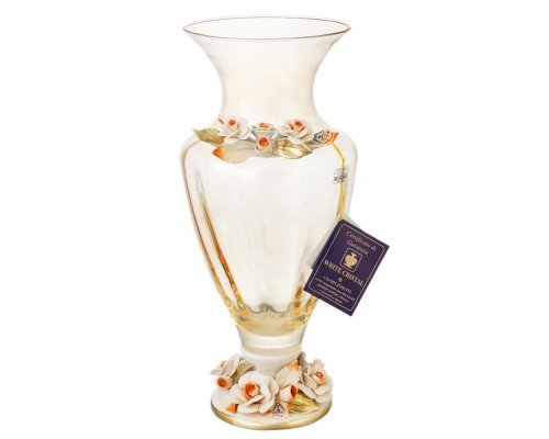 Ваза для цветов White Cristal жёлтая 40 см