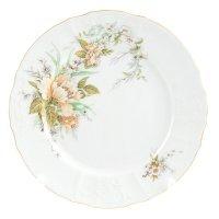 Набор тарелок 25 см Бернадотт Зеленый цветок (6 шт)