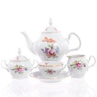 Чайный сервиз на 6 персон 15 предметов Бернадотт Полевой цветок