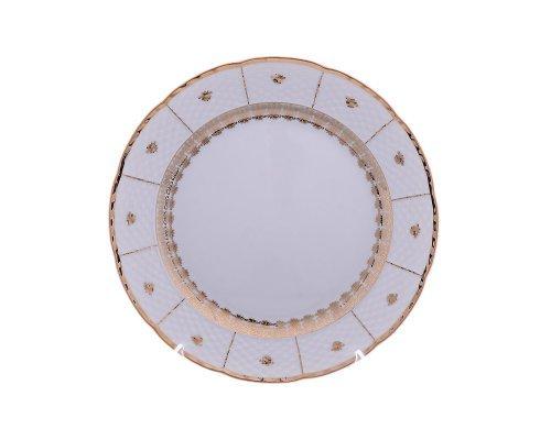 Блюдо круглое 30 см Тхун (Thun) Менуэт Золотой орнамент