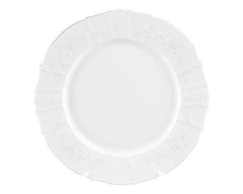 Блюдо круглое 32 см Бернадотт Платиновый узор