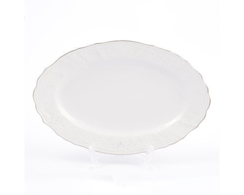 Блюдо овальное 26 см Бернадотт Платиновый узор