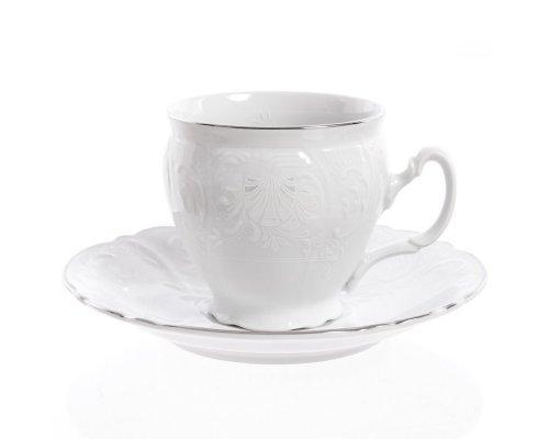 Набор чайных пар бочка Платиновый узор Bernadotte 240 мл (6 пар)