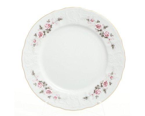 Набор тарелок 25 см Бернадотт Серая роза золото (6 шт)