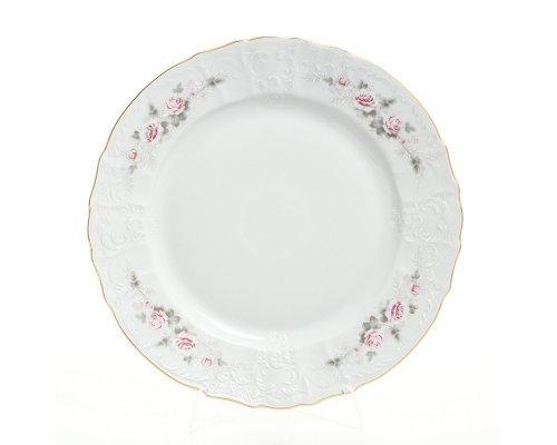 Блюдо круглое 32 см Бернадотт Серая роза золото