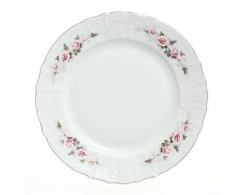 Блюдо круглое 32 см Бернадотт Серая роза платина