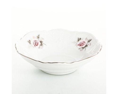 Набор салатников 13 см Бернадотт Серая роза платина (6 шт)