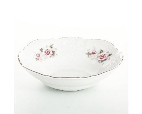 Набор салатников 16 см Бернадотт Серая роза платина (6 шт)
