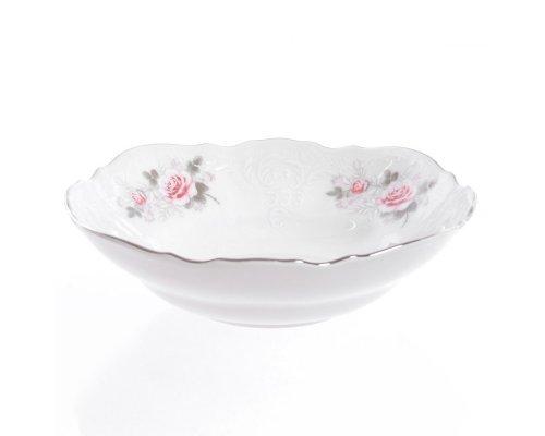 Набор салатников 19 см Бернадотт Серая роза платина (6 шт)