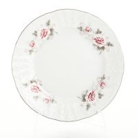 Набор тарелок 17 см Бернадотт Серая роза платина (6 шт)
