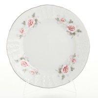 Набор тарелок 19 см Бернадотт Серая роза платина (6 шт)