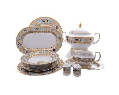 Столовый сервиз на 6 персон 26 предметов Vienna blu gold Falkenporzellan (Фалкенпоцеллан)