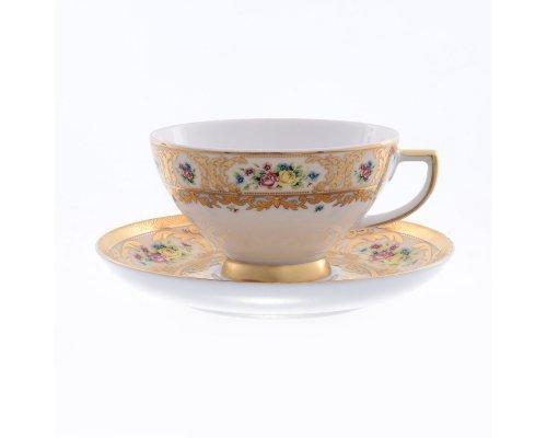 Набор чайных пар (6 пар) Vienna creme gold Falkenporzellan (Фалкенпоцеллан)