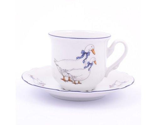 Набор кофейных пар 150 мл Тхун (Thun) Констанция Гуси (6 пар)