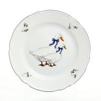 Набор тарелок 24 см Тхун (Thun) Констанция Гуси (6 шт)