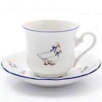 Набор чайных пар 240 мл Тхун (Thun) Констанция Гуси (6 пар)