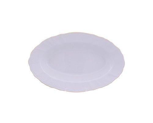 Блюдо овальное 24 см Бернадотт Белый узор