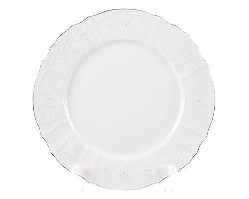 Набор тарелок 27 см Бернадотт Платиновый узор (6 шт)