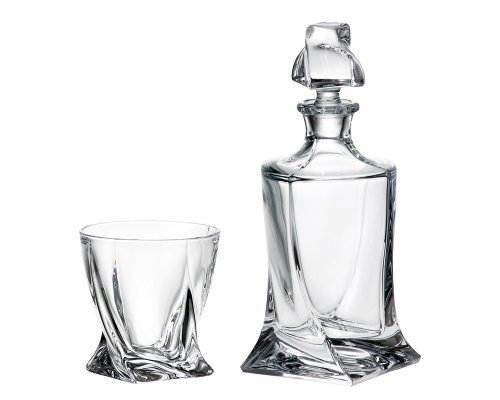 Набор для виски 3 предмета Quadro Богемия Кристал (Bohemia Crystal)