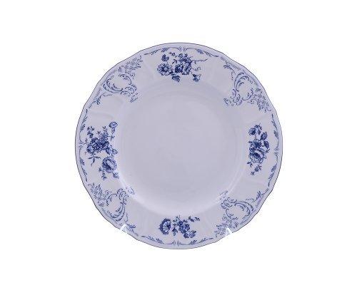 Блюдо круглое глубокое 32 см Бернадотт Синие розы