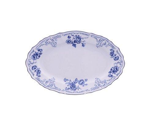 Блюдо овальное 26 см Бернадотт Синие розы