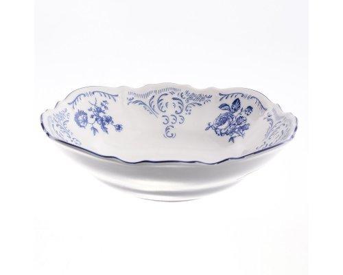 Набор салатников 19 см Бернадотт Синие розы (6 шт)